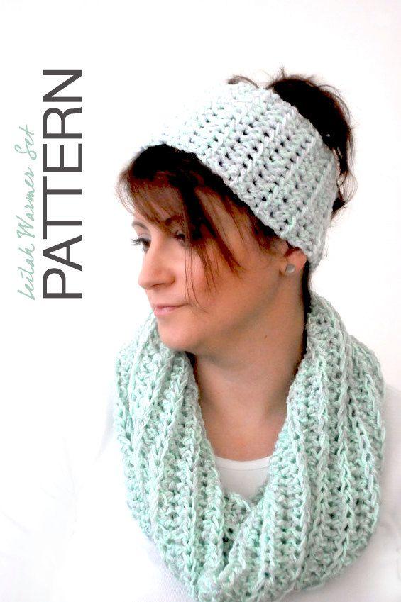 CROCHET PATTERN The Leilah Warmer Set Headband by TheNewcrochet ...