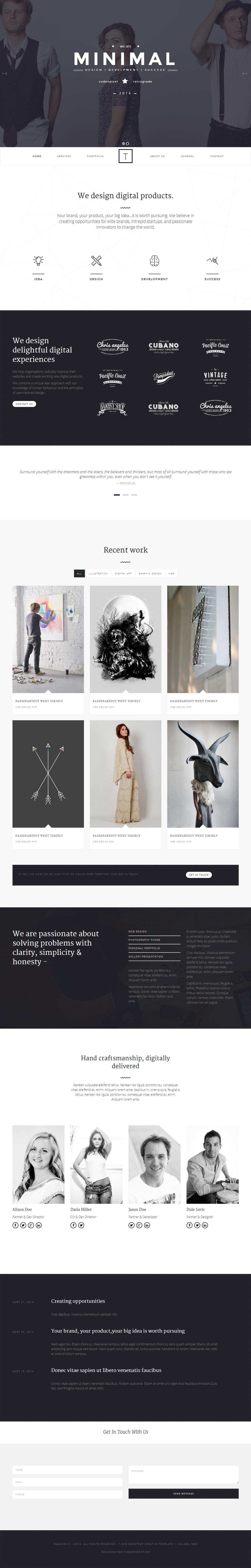 30 Best Simple Wordpress Themes Of 2014 Design Web Designs
