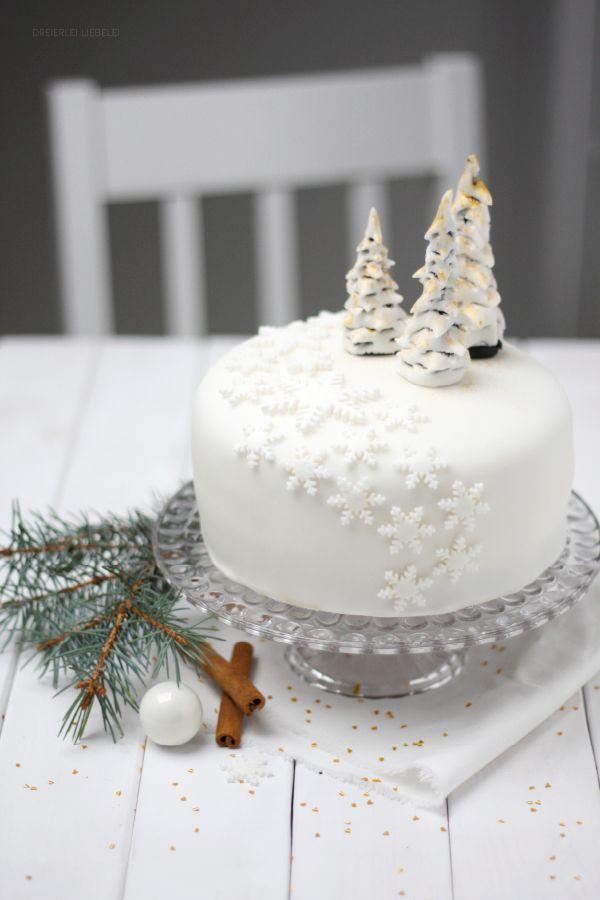 Fondant Torte Winter Wonderland Torten Pinterest Fondant