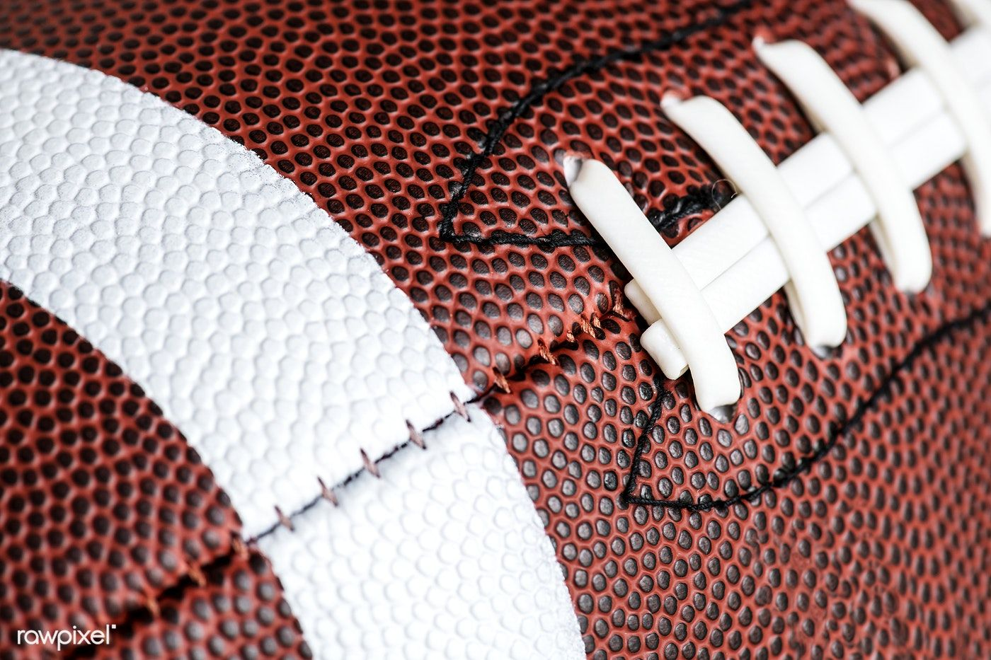 Macro Shot Of American Football Ball Background Free Image