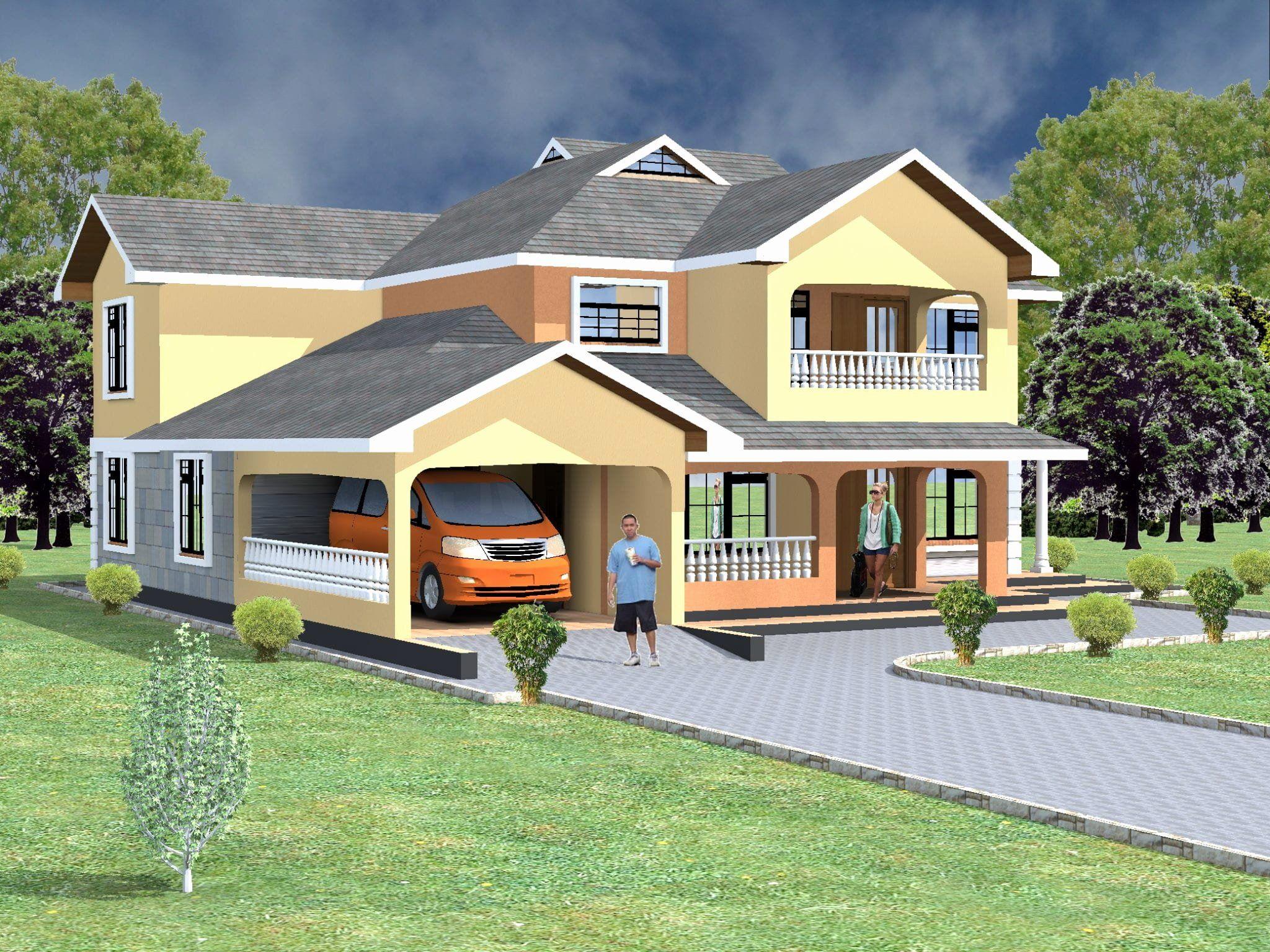 House Plans 4 Bedroom Elegant Maisonette House Plans 4 Bedroom In Kenya In 2020 House House Plans Simple House Plans