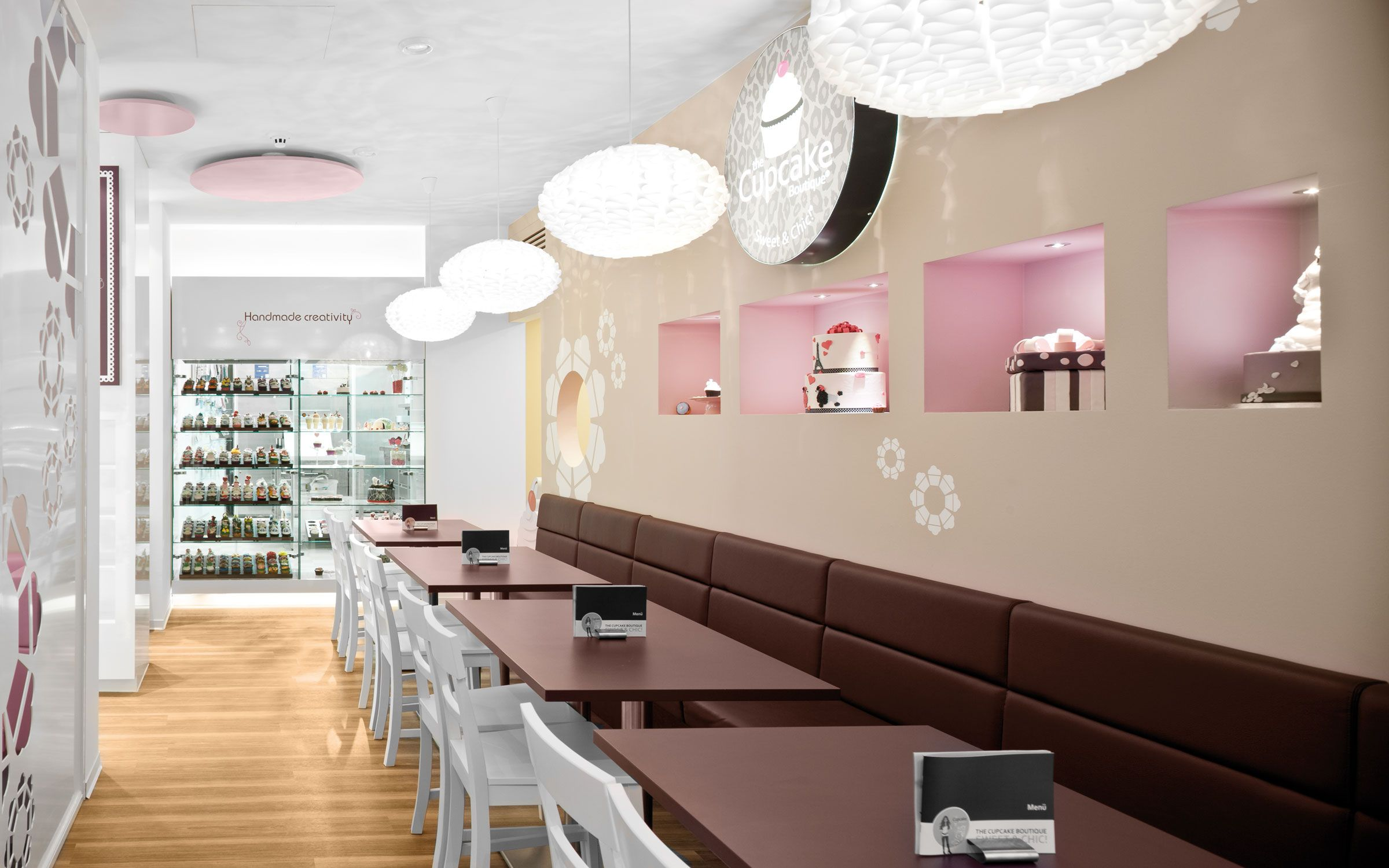 interior design graphic design Cupcake Boutique by