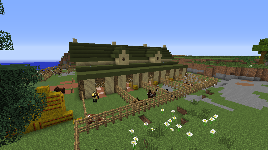 . Minecraft World of Raar   SPOTLIGHT  Horse Stable Minecraft building