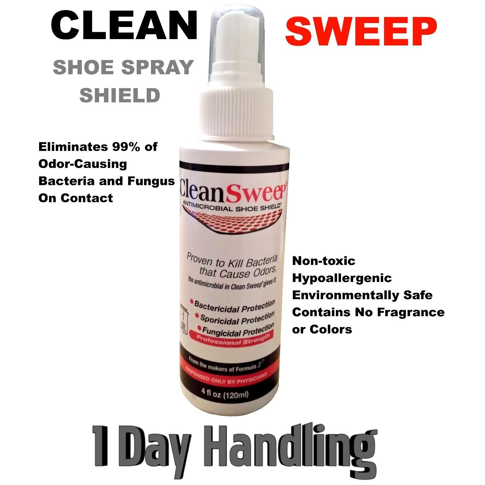 Foot Odor Shoe Spray Clean Sweep Athlete Shoes Athletes