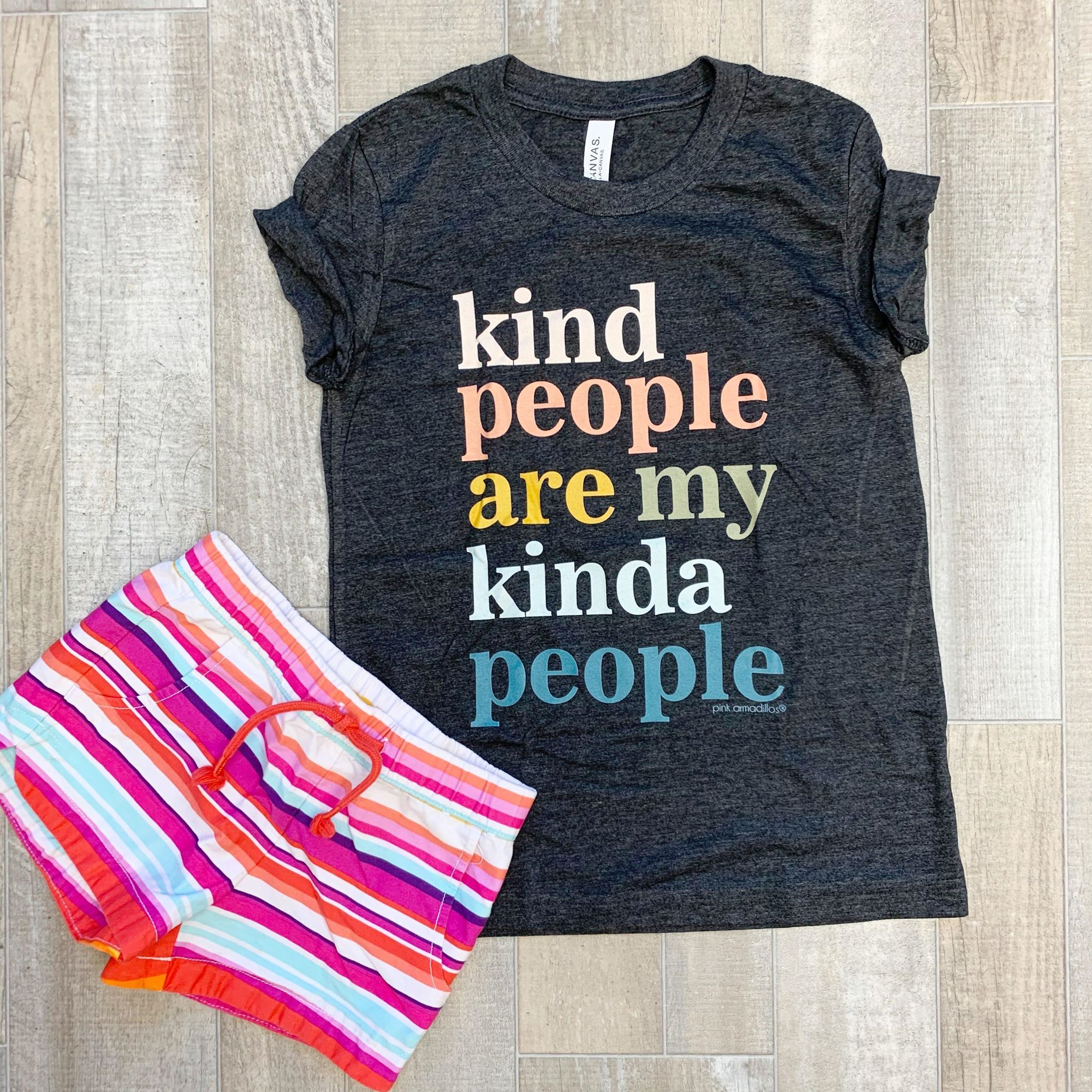 Youth 'Kind People Are My Kinda People' Short Sleeve Tee - Youth Small (6-8)