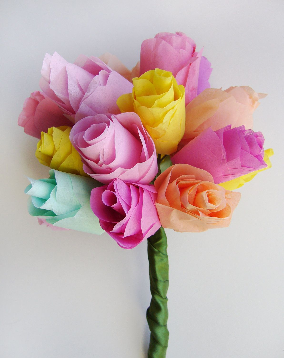 Custom Tissue Paper Flower Bouquet Medium 4000 Via Etsy