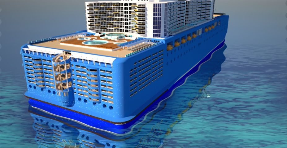 The Aft Of The Cruise Ship Showing Pool Area Cruise Ship Design - What is aft on a cruise ship