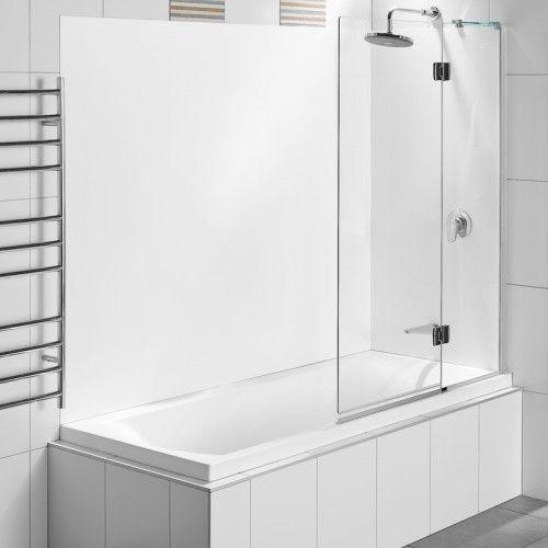 allora swing panel bath shower over