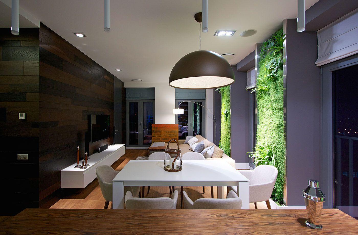 apartamento moderno de la cocina en la noche | Home | Pinterest ...