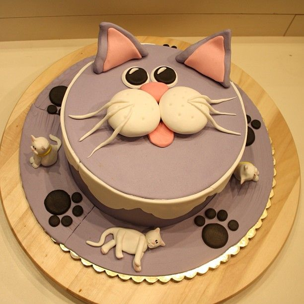 Two Of My Favorite Thingscake And Grey Cats Birthday Cakewedding Cakemaybe Both