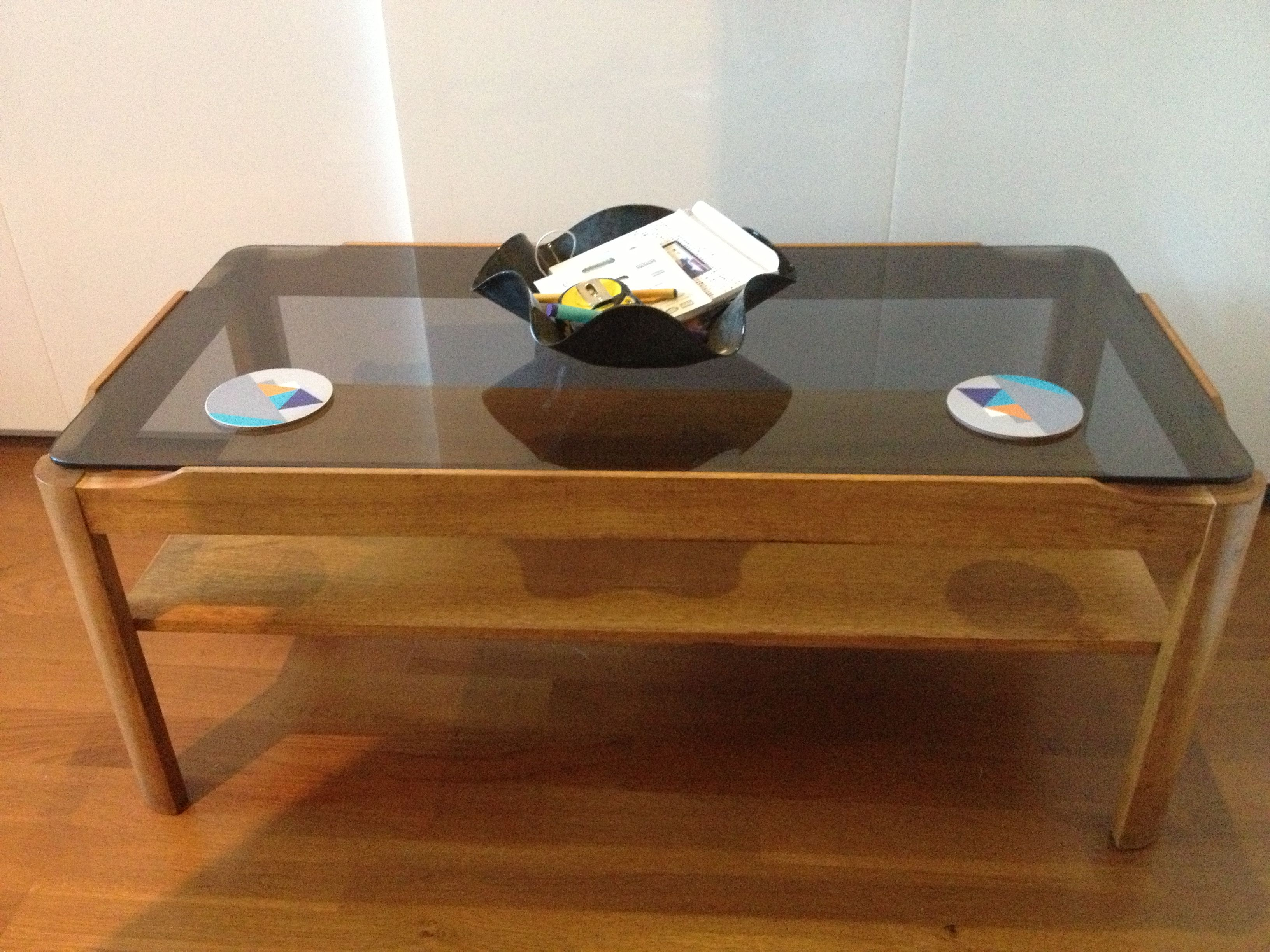 Myer Wooden Smoked Glass 70s Coffee Table Coffee Table Antique Table Coffee Table Vintage [ 2448 x 3264 Pixel ]