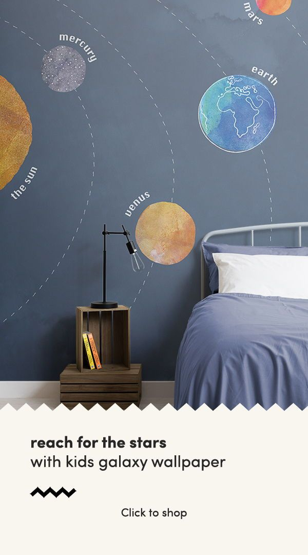 Kids Solar System Planets Wall Mural images