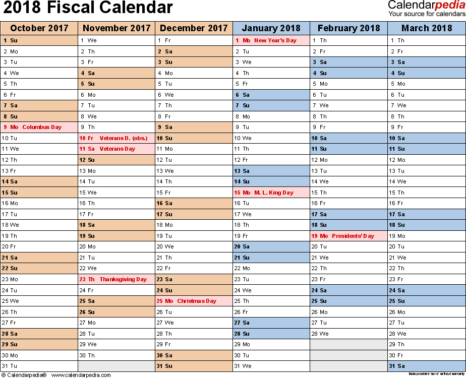 word template calendar 2018
