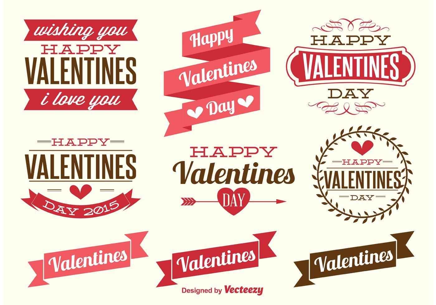 Valentines Day Labels  Valentine Ideas    Vector Art