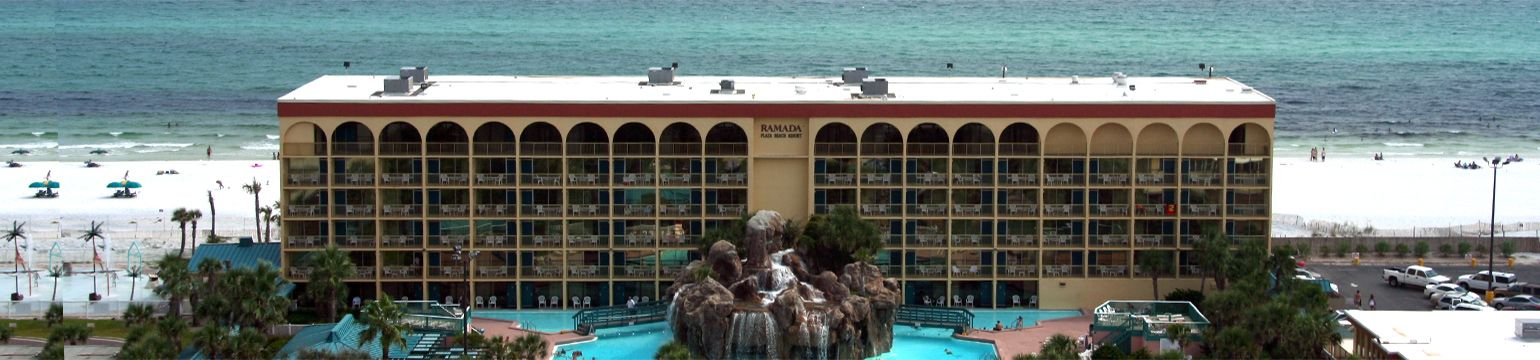 Ramada Plaza Beach Resort At Fort Walton Fl Close To Destin Awesome White Sand Sugary Right Out Your Hotel Door Great For Kids