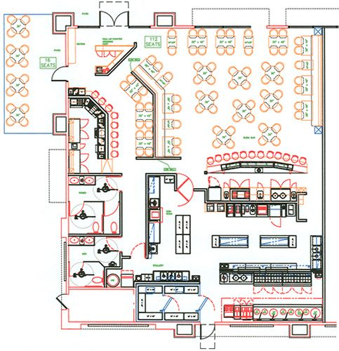 Small Restaurant Kitchen Layout Restaurant Interior Design Bar