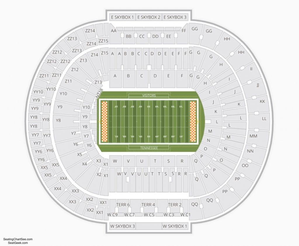 Incredible Neyland Stadium Seating Chart In 2020 Neyland Stadium Tennessee Football Alabama Vs Tennessee