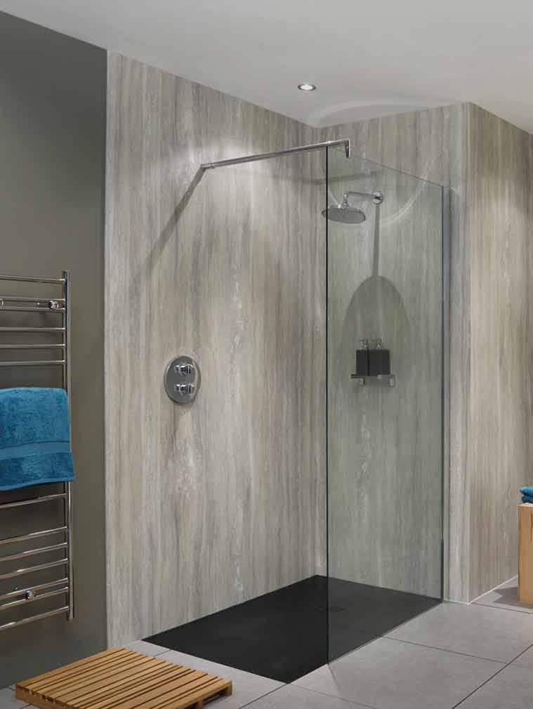 Nuance Radiance Ivory Marble Shower Panels #ShowerPanels | Shower ...