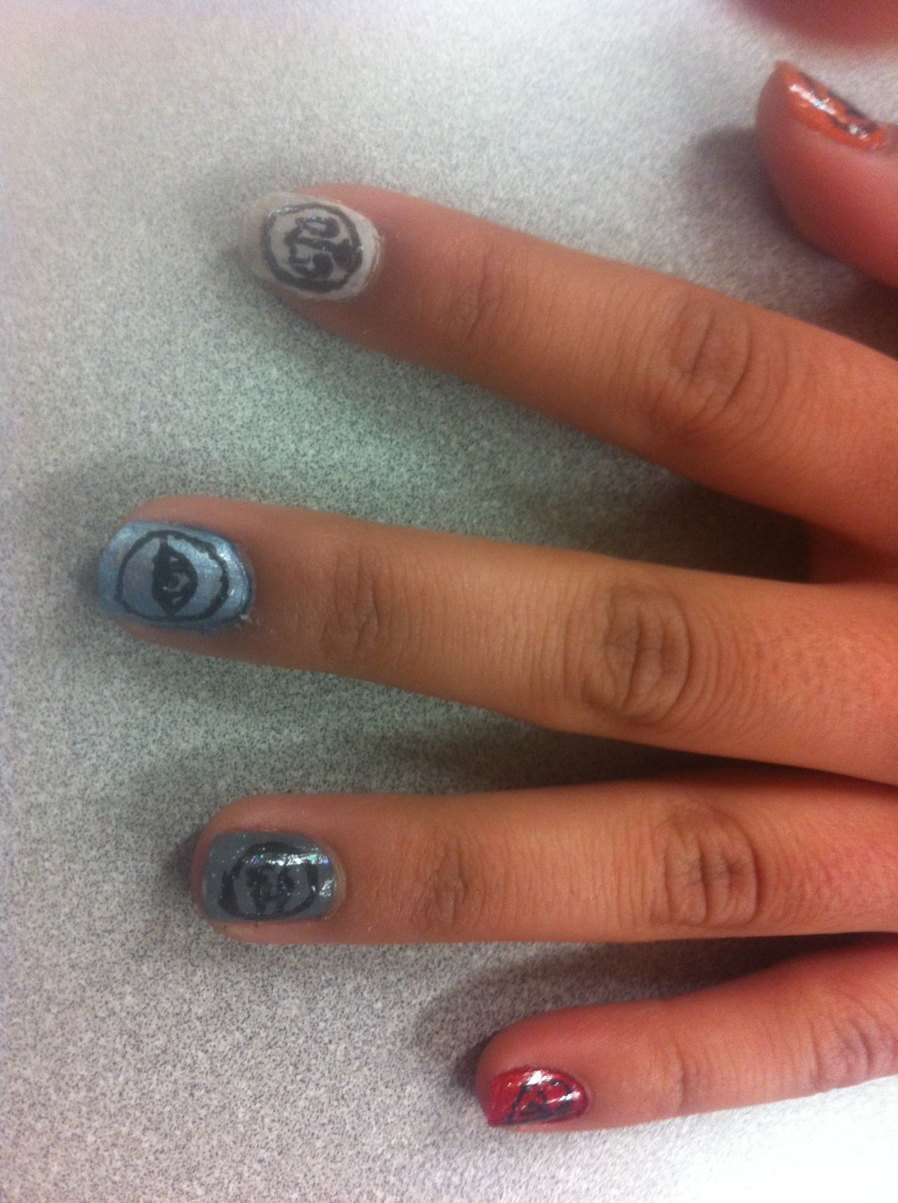 Divergent nails :) | Uñas, Divergente
