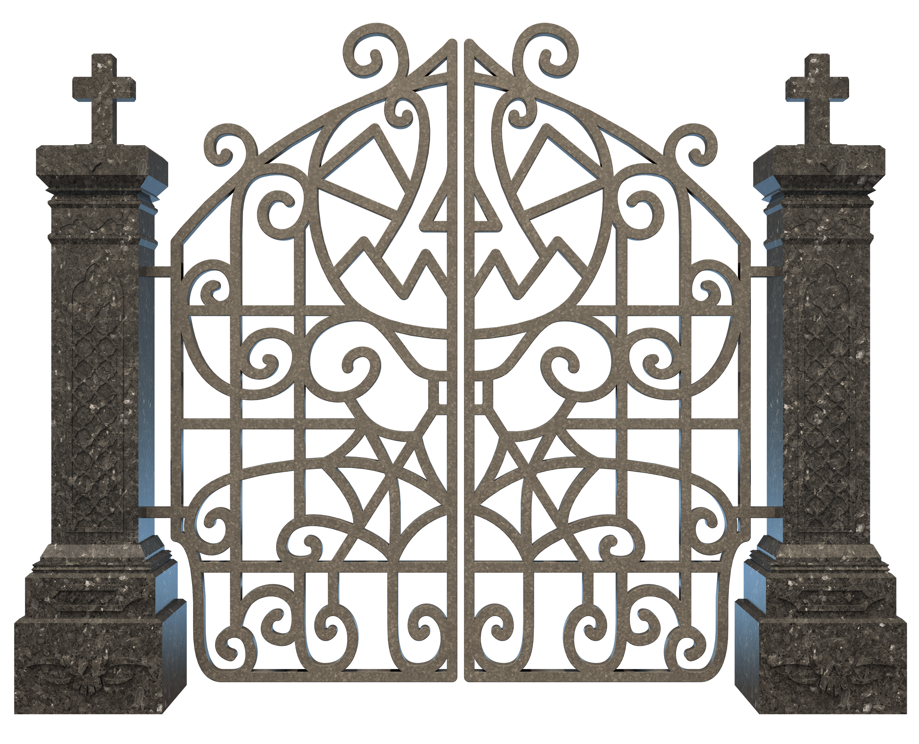 Halloween Graveyard Gate Png Clipart Image - Gallery Yopriceville