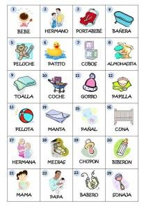 photo about Spanish Baby Shower Games Free Printable referred to as Juegos Para Child Shower-Printable Little one Shower Online games within just