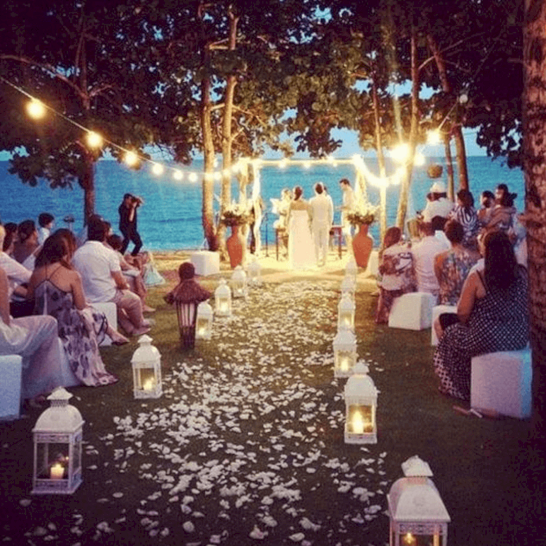 25 Outdoor Night Wedding Ceremony For Romantic Wedding