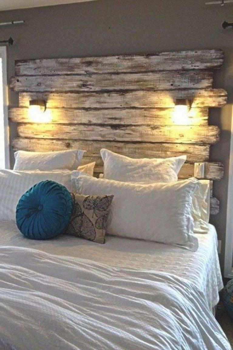 41 Extraordinary Diy Rustic Home Decor Ideas Home Decor Bedroom Reclaimed Wood Headboard Farmhouse Master Bedroom