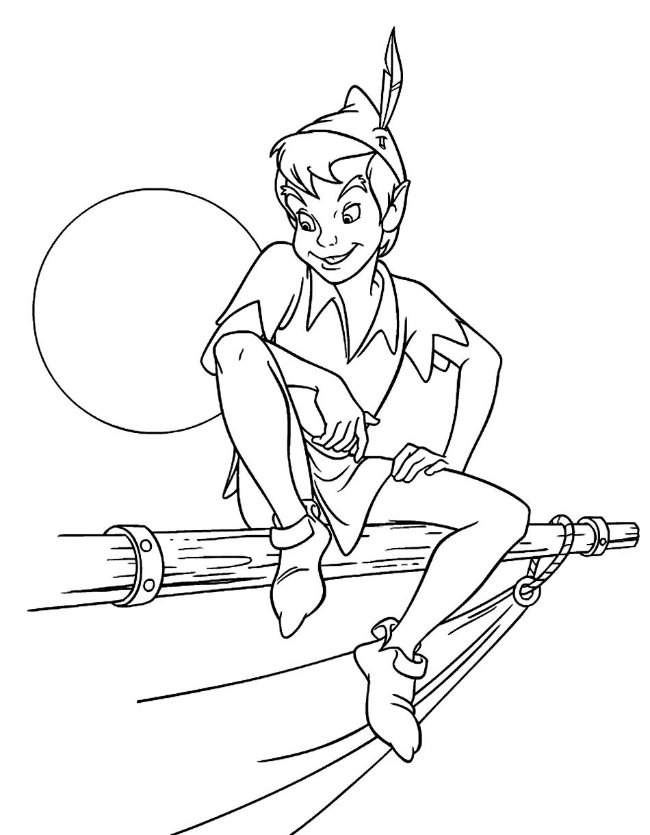 Free Printable Peter Pan Coloring Pages For Kids | Peter Pan ...