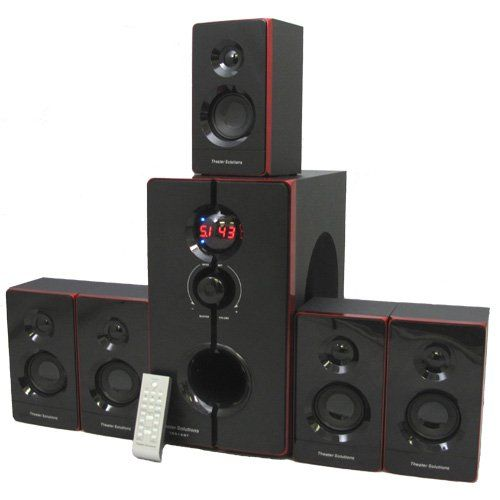 Theater solutions ts bt surround sound home entertainment system with built in bluetooth also rh pinterest