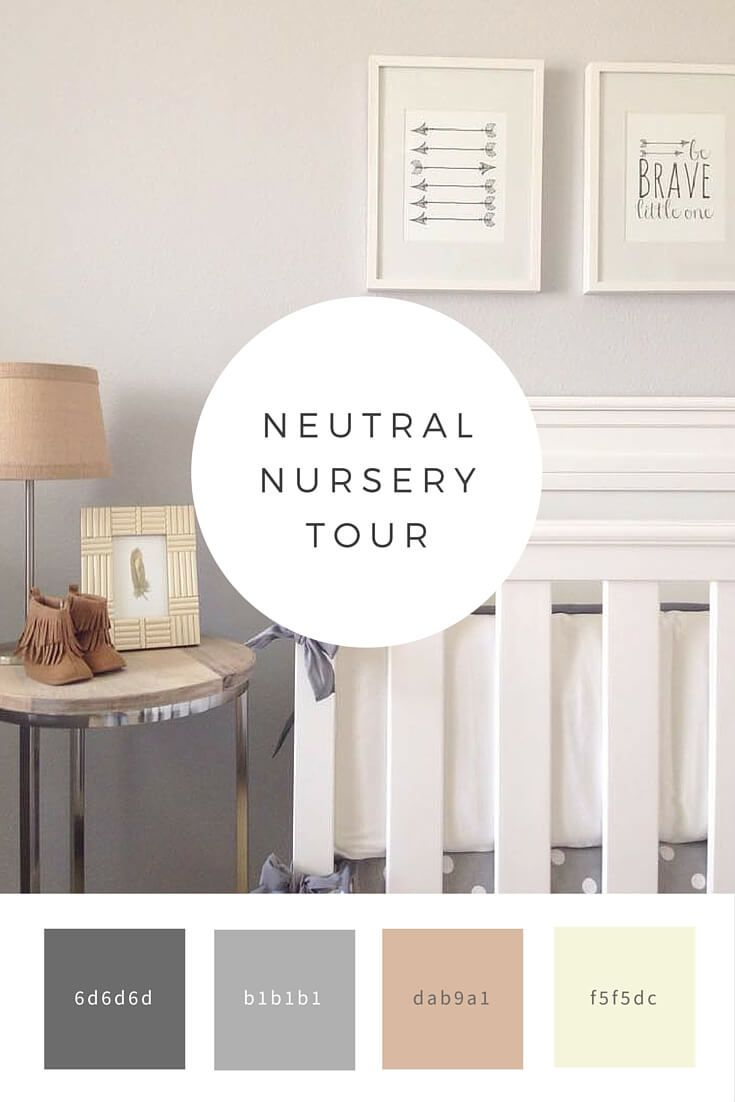 Neutral nursery tour diy ideas pinterest neutral for Neutral feature wall colours