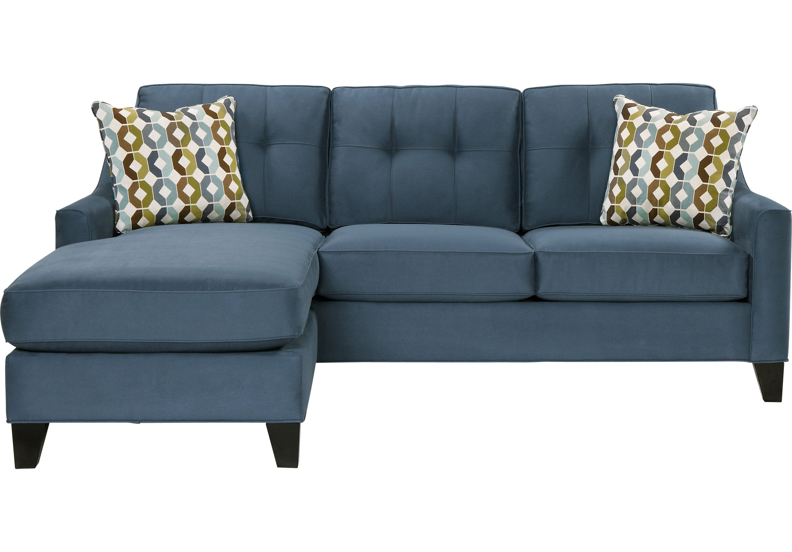Picture Of Cindy Crawford Madison Place Indigo 2pc Sectional From  # Muebles Pikeando