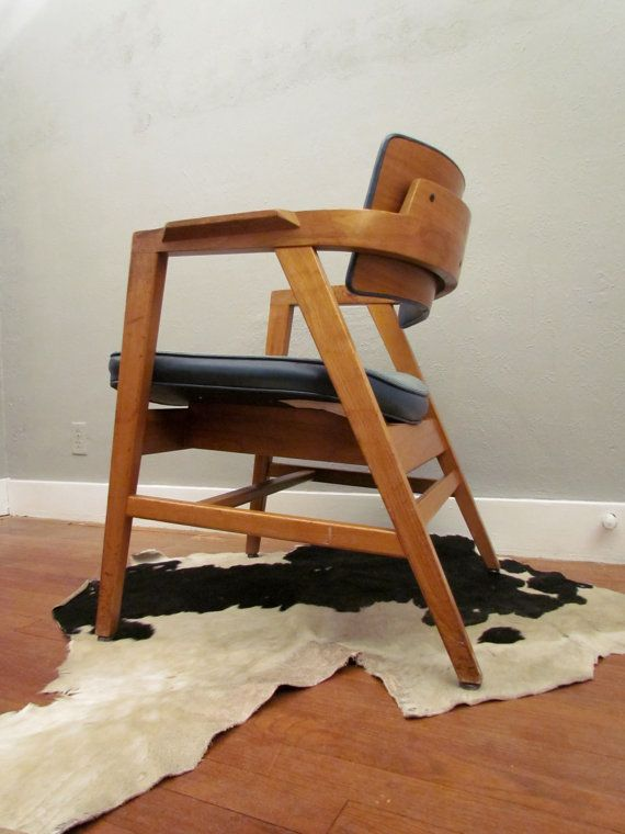 Wh Gunlocke Chair Wooden Potty Training Mid Century Modern W H Danish By Purchasepast