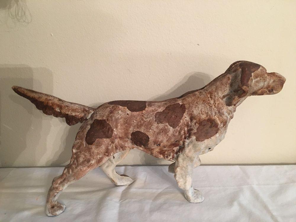 Hubley style vintage springer spaniel pointer dog cast