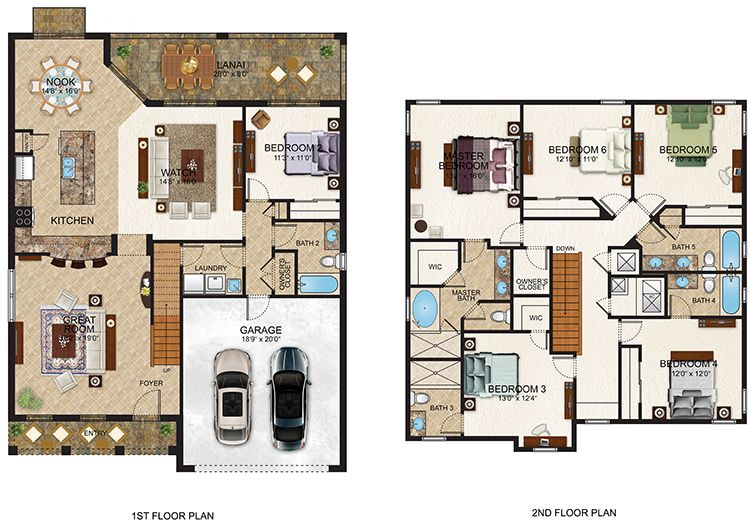 Orange Lake Resort 3 Bedroom Floor Plan Bedroom Flooring 3 Bedroom Floor Plan Floor Plans