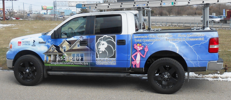 Kingdom Construction Partial Wrap Truck Wrap Truck Graphics