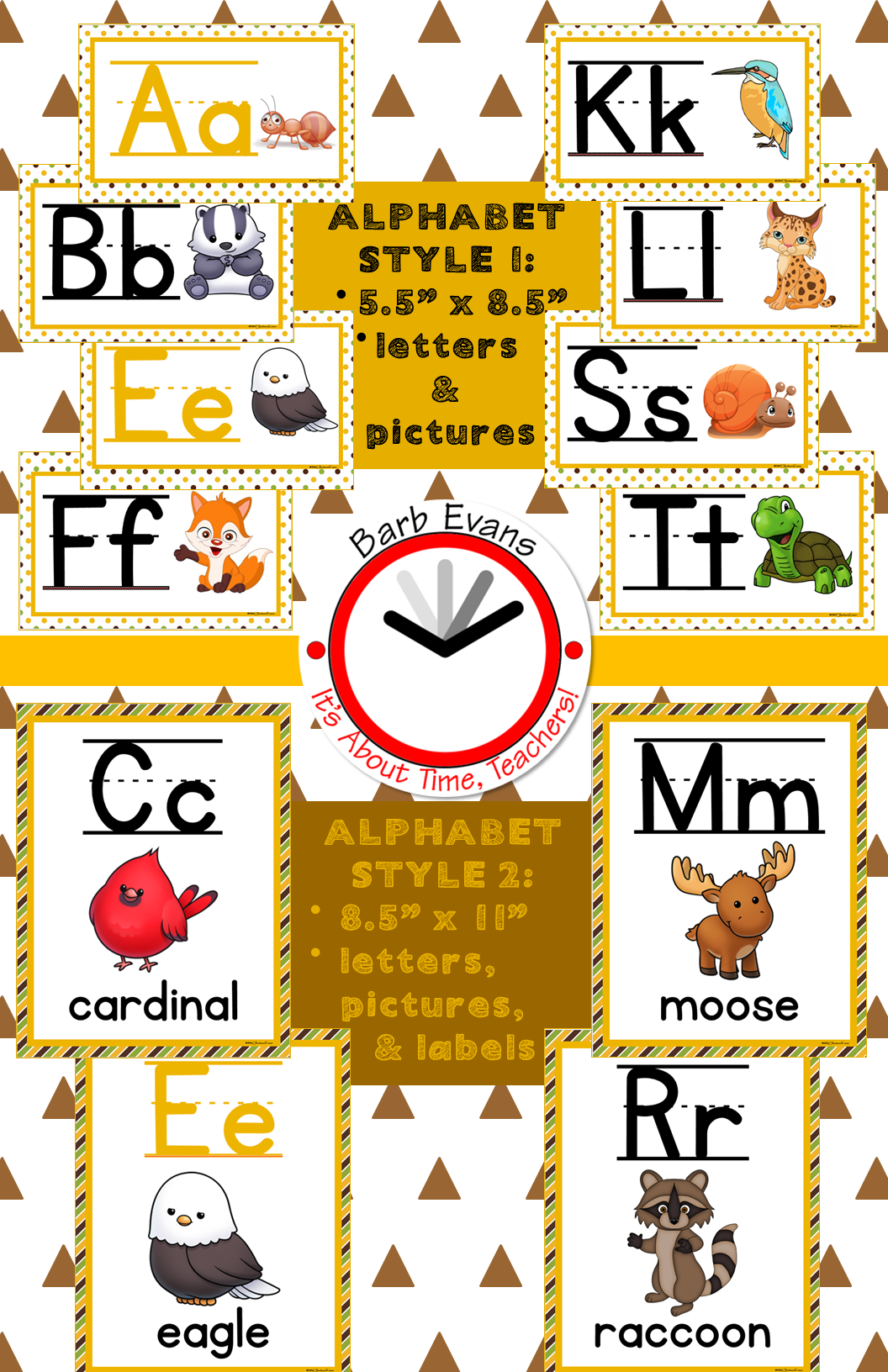 Forest Animals Forest Woodland Animal Alphabet Amp Color