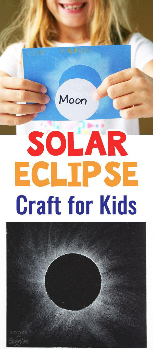 Solar Eclipse Craft For Kids Solar Eclipse Solar And