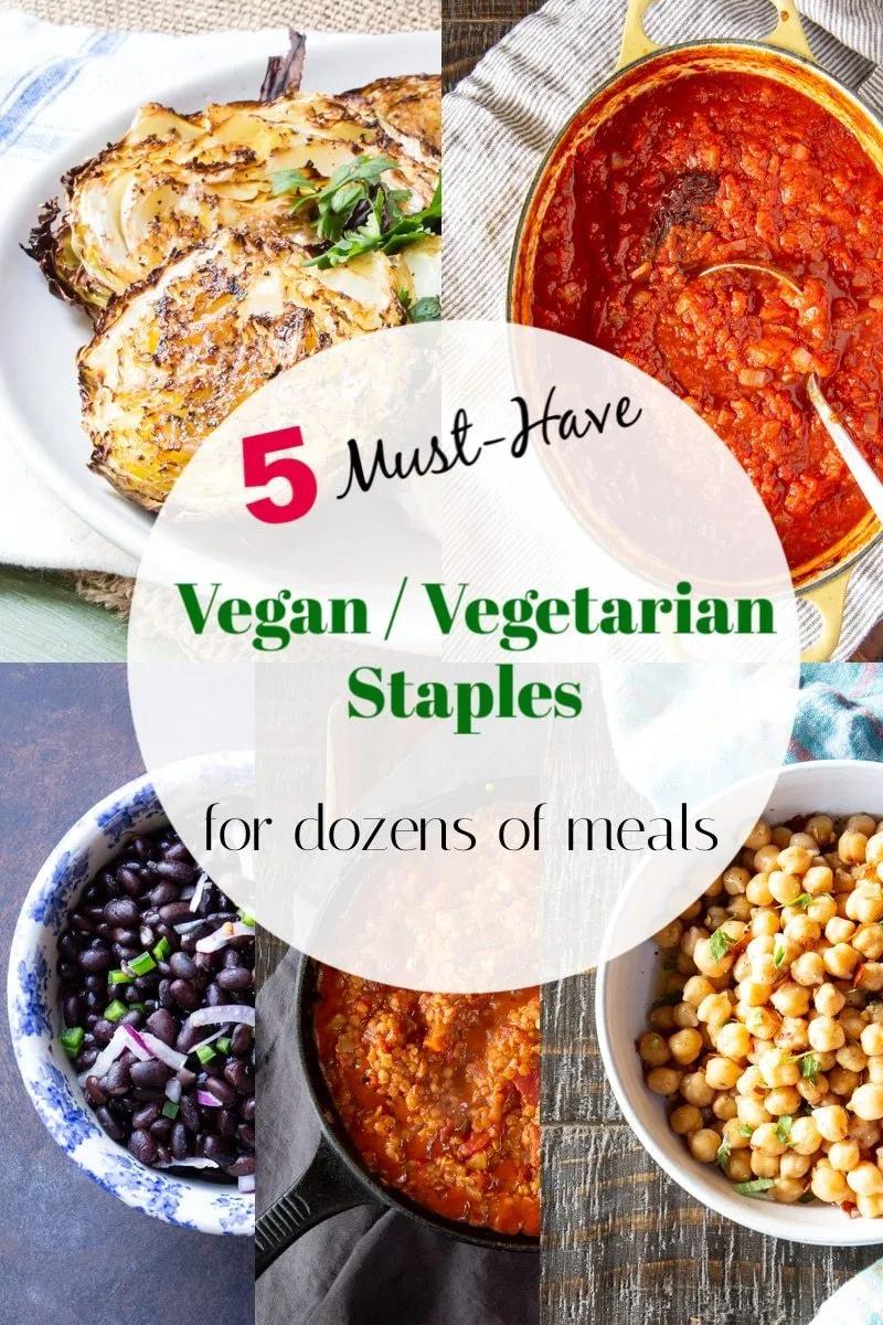 5 Best Vegan Vegetarian Kitchen Staples For Quick Meals Vegetarian Vegetarian Appetizers Quick Meals