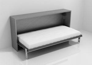 Armoire Lit Stone Escamotable Lit Pont Relevable Ouverture Laterale 1 Personne Couleur Gris Vintage Furniture Bed Decor