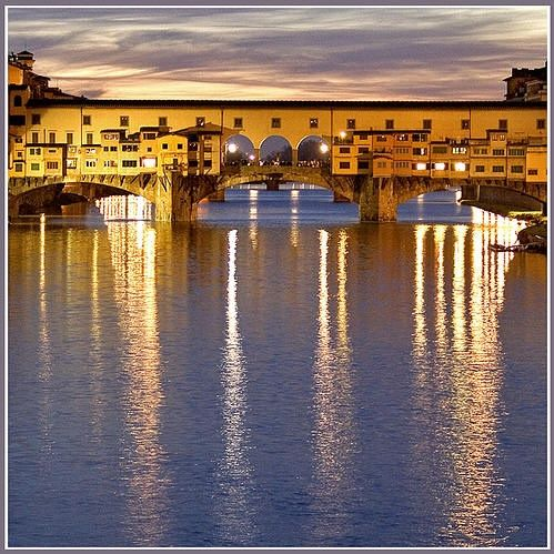 Ponte Vecchio Old Bridge in Florence, Italy