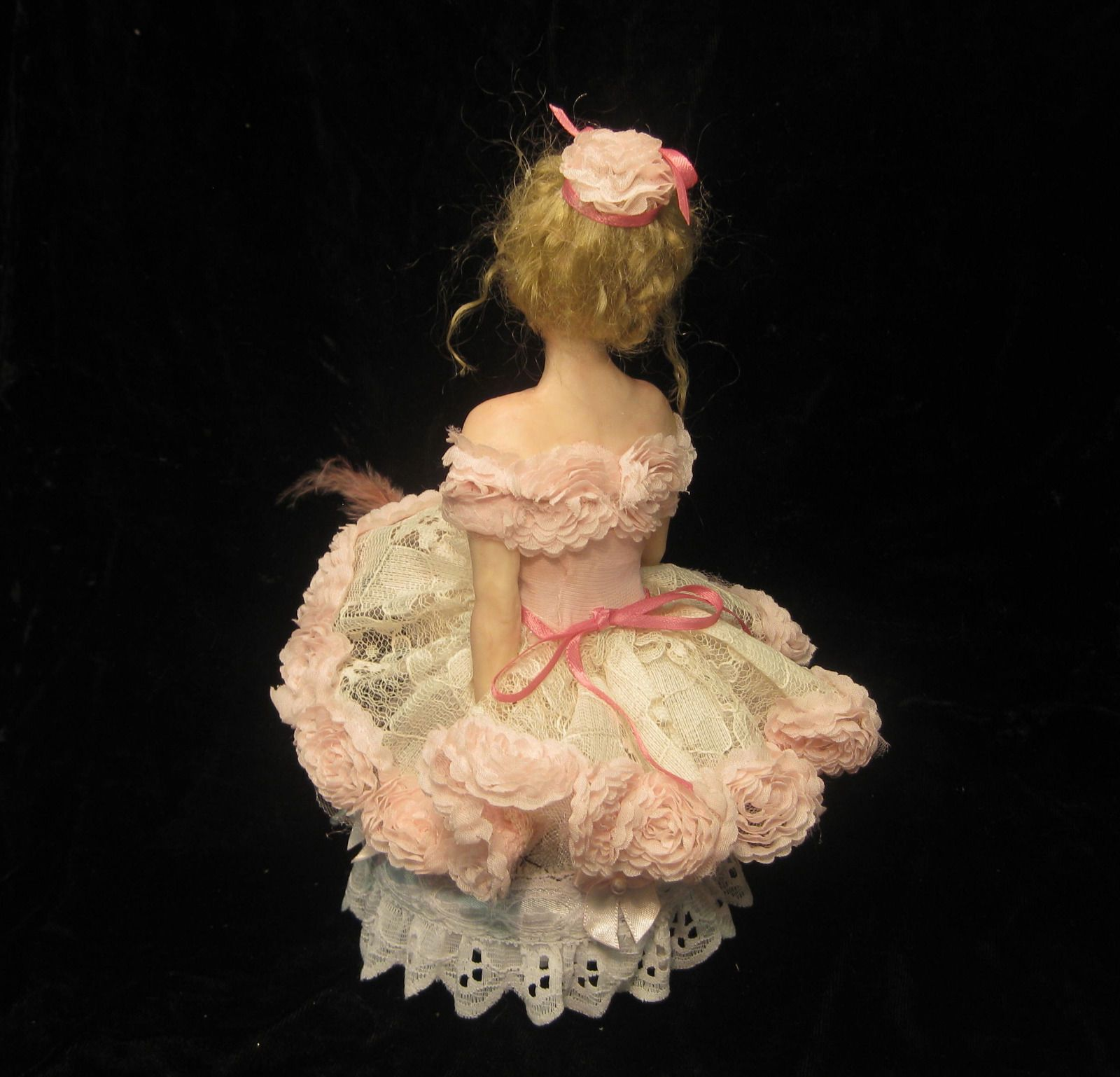 "One of a kind polymer clay Art doll.""Little Dancer'"" by artist Cheryl Fornengo"