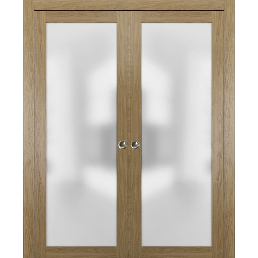 Sliding Double Pocket Door Frosted Tempered Glass / Planum 2…
