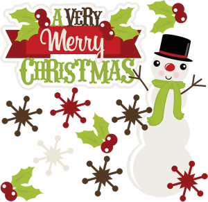 Merry christmas cute. A very svg clipart