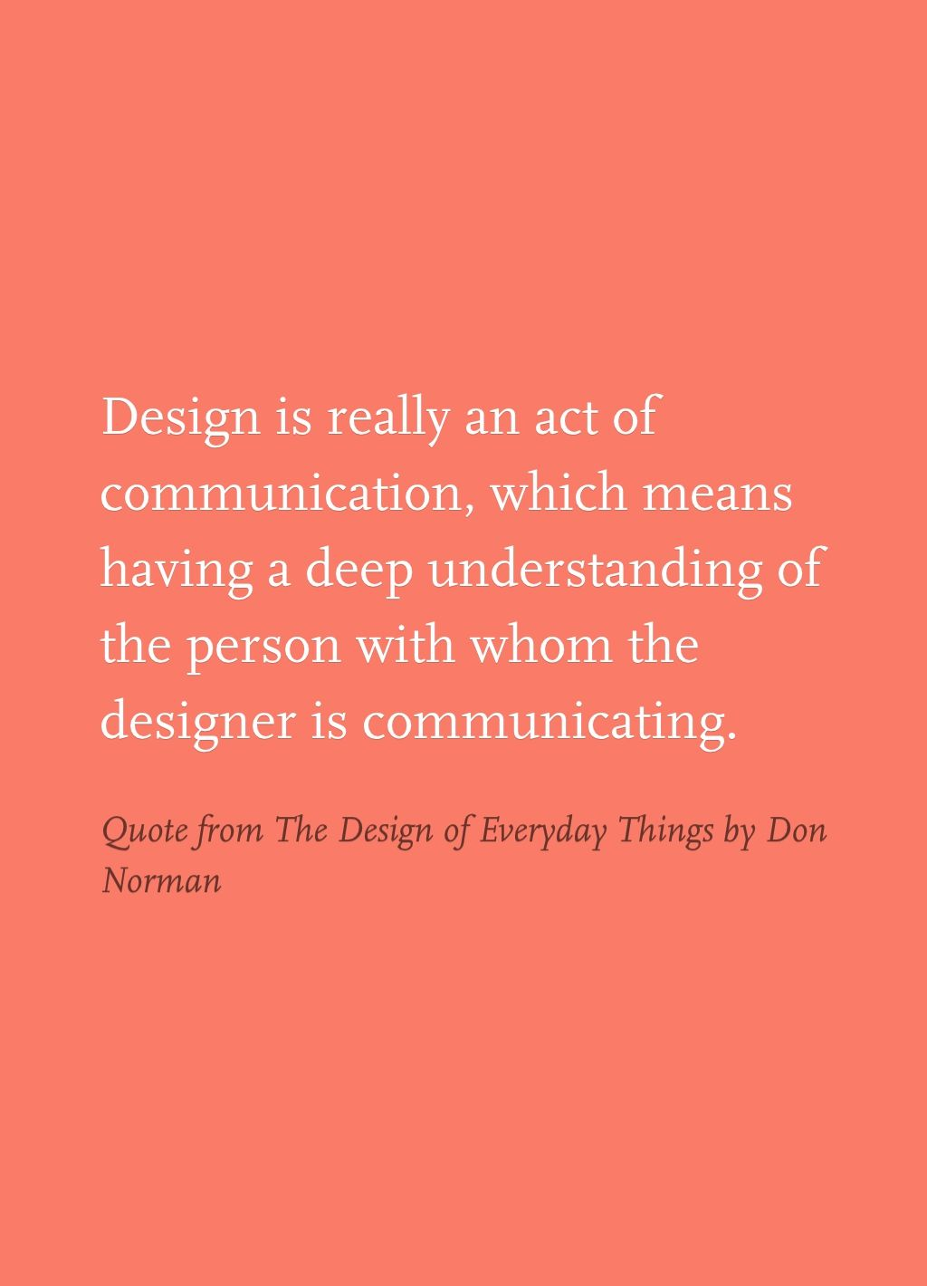 quote from the design of everyday things by don norman stumbling