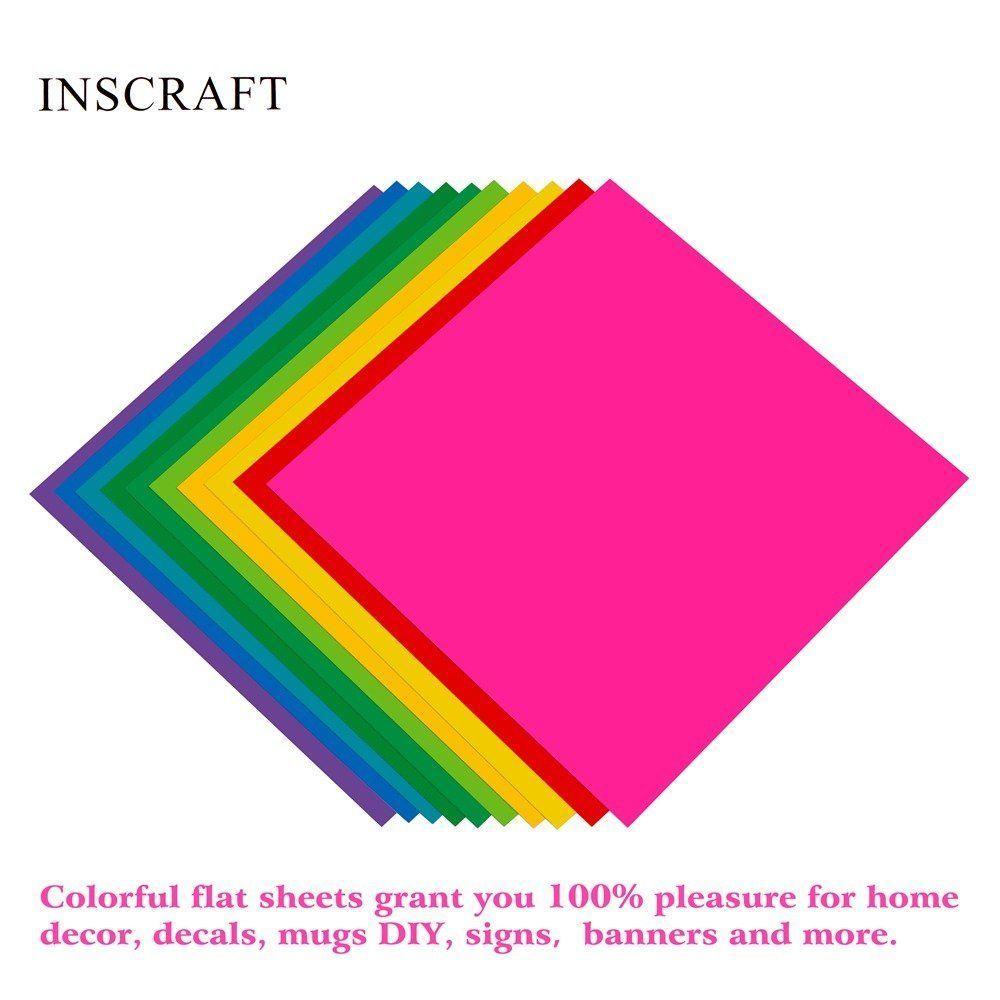 48 sheets vinyl permanent adhesive 12 x 12 assorted
