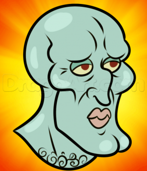 How To Draw Handsome Squidward Drawings Spongebob Drawings Guided Drawing