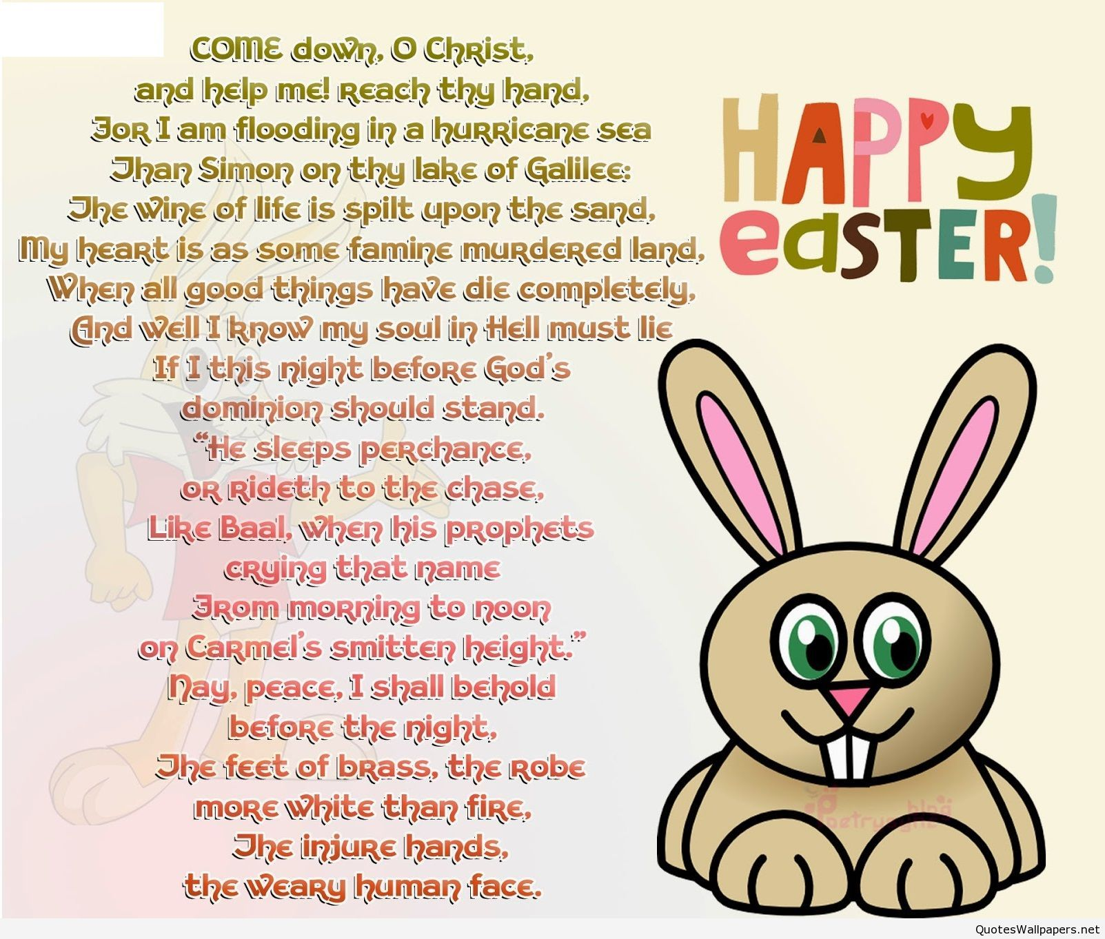 Best cute easter poem with cartoon easter poems happy