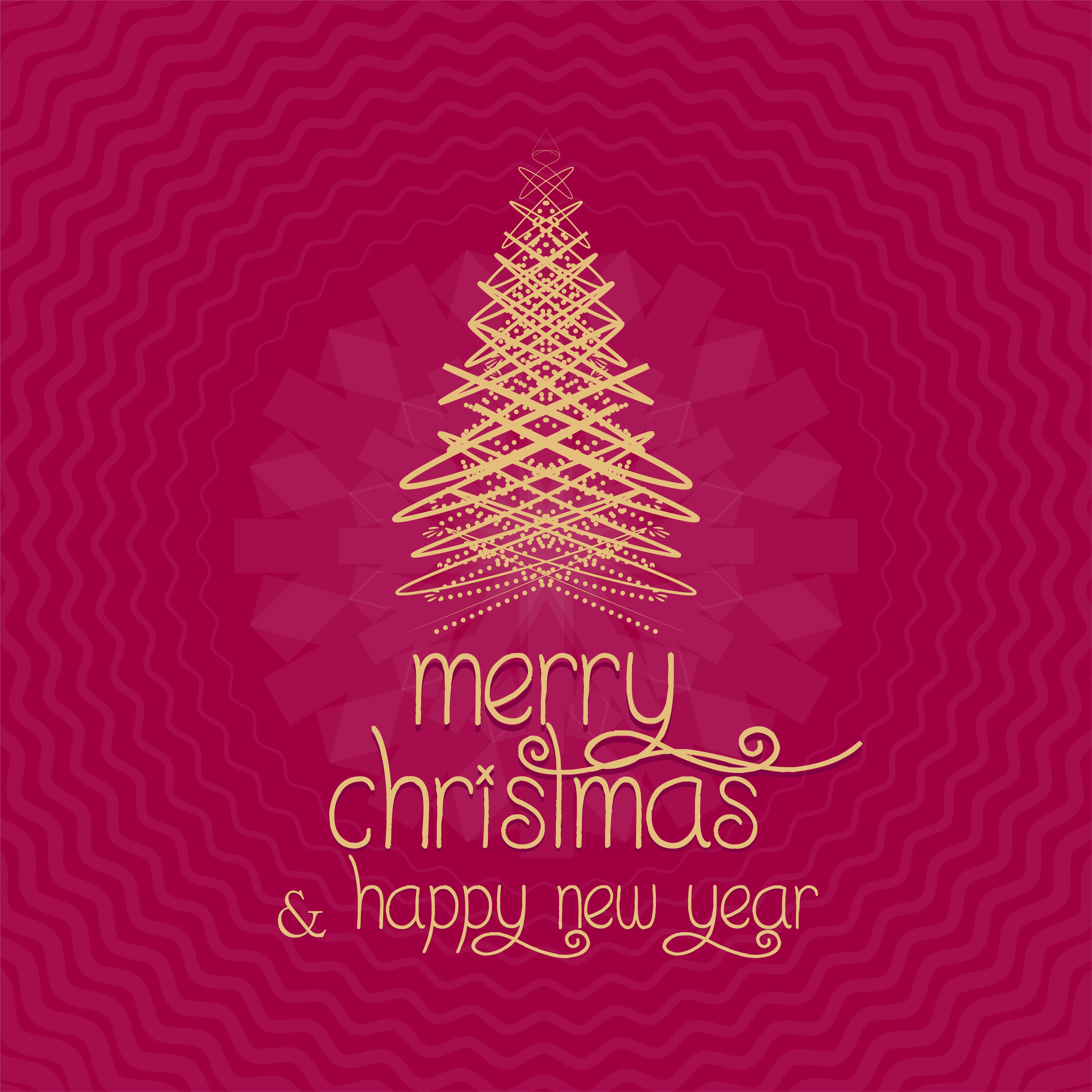 Merry Christmas Greeting Card Merry Christmas Vector Design