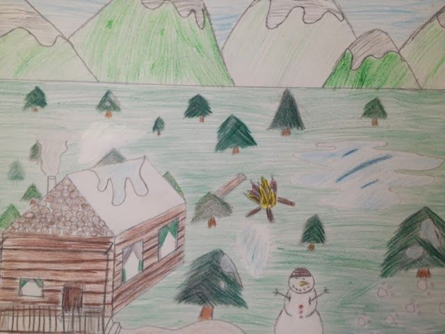 Robert Frost 6th Grade 1 Point Perspective Cabin 1 Point Perspective Grade 1 Point Perspective