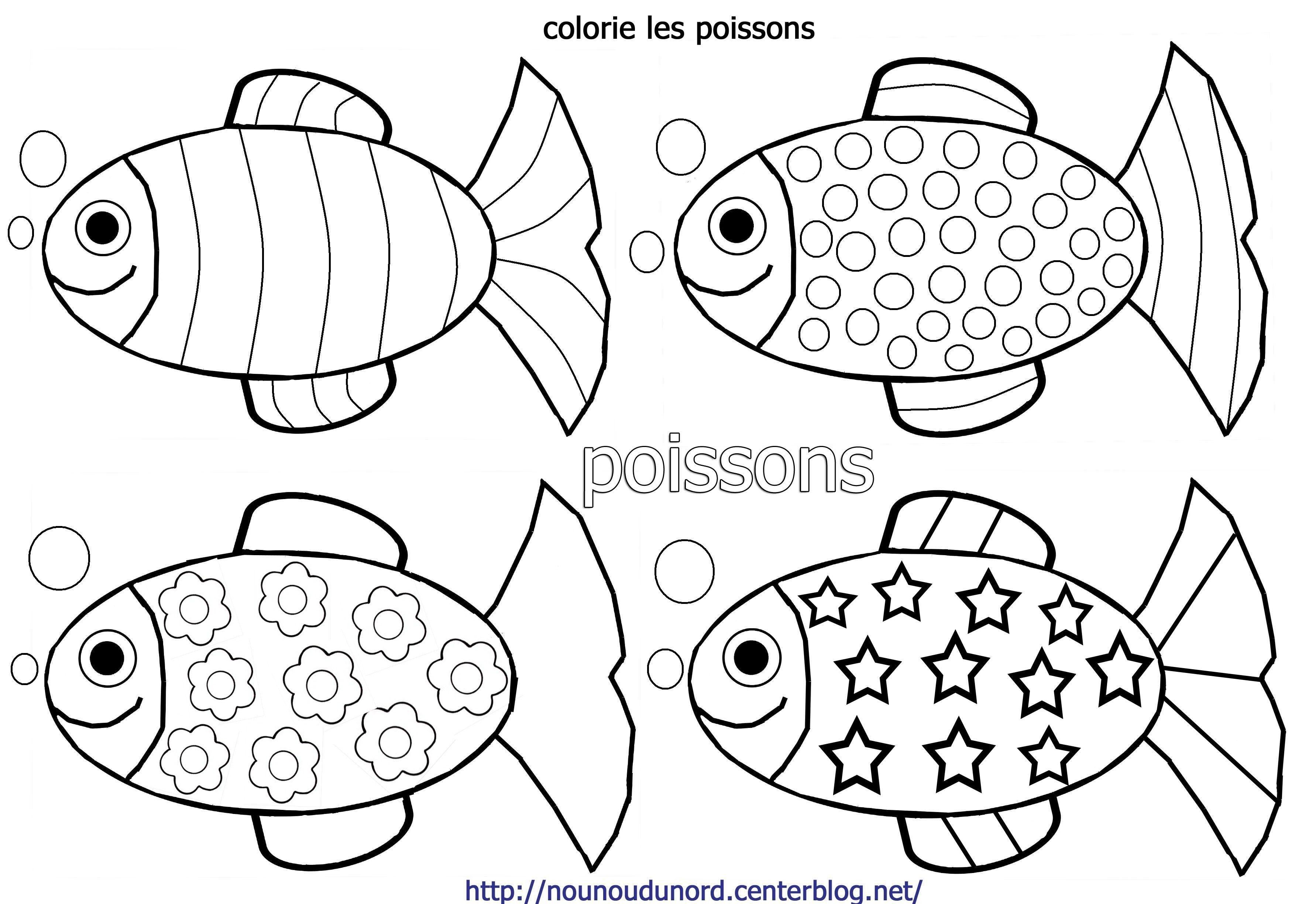 Poisson D Avril Maternelle   Coloriage poisson, Poisson d avril dessin, Coloriage poisson davril